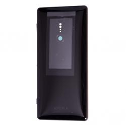 Coque arrière avec chassis et lecteur d'empreintes pour Sony Xperia XZ2 / XZ2 Dual Noir Photo 1