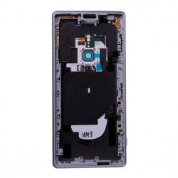 Coque arrière avec chassis et lecteur d'empreintes pour Sony Xperia XZ2 / XZ2 Dual Argent Photo 2