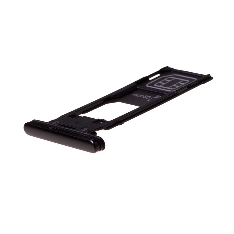 Rack tiroir cartes SIM et SD Noir pour Sony Xperia XZ2 photo 1