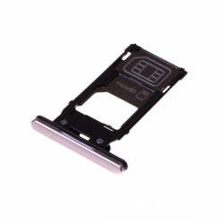 Rack tiroir cartes SIM et SD Rose pour Sony Xperia XZ2 Photo 1
