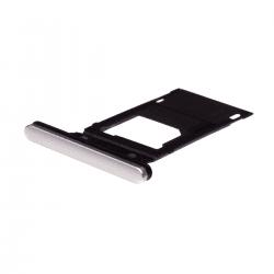 Rack tiroir cartes SIM et SD argent pour Sony Xperia XZ2 Photo 1