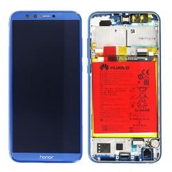 BLoc Ecran Bleu COMPLET prémonté sur chassis + batterie pour Huawei Honor 9 Lite Photo 1