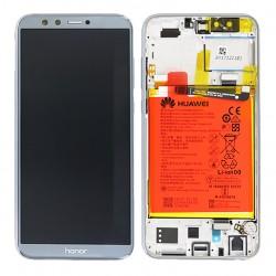 BLoc Ecran Gris COMPLET prémonté sur chassis + batterie pour Huawei Honor 9 Lite Photo 1