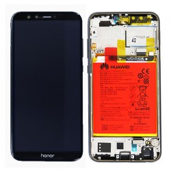 BLoc Ecran Noir COMPLET prémonté sur chassis + batterie pour Huawei Honor 9 Lite Photo 1