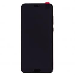 BLoc Ecran Noir COMPLET prémonté sur chassis + batterie pour Huawei P20 Pro Photo 2