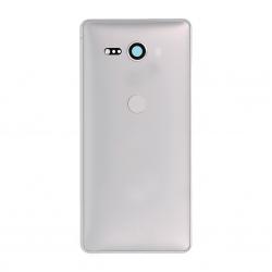 Coque arrière avec lecteur d'empreintes pour Sony Xperia XZ2 Compact / XZ2 Compact Dual Argent Photo 1