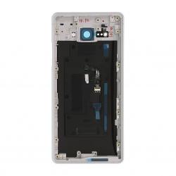 Coque arrière avec lecteur d'empreintes pour Sony Xperia XZ2 Compact / XZ2 Compact Dual Argent Photo 2