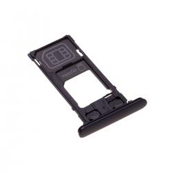 Rack tiroir cartes SIM et SD Noir pour Sony Xperia XZ2 Compact Photo 1