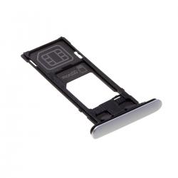 Rack tiroir cartes SIM et SD Argent pour Sony Xperia XZ2 Compact Photo 1