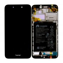 Bloc Ecran Noir COMPLET prémonté sur chassis + batterie pour Huawei Honor 6A Photo 1