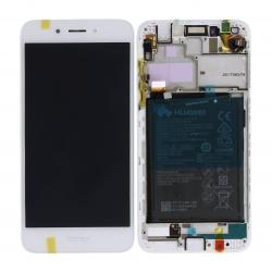 Bloc Ecran Blanc COMPLET prémonté sur chassis + batterie pour Huawei Honor 6A photo 5