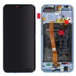 Bloc écran Gris COMPLET prémonté sur châssis + batterie pour Huawei Honor 10 photo 1