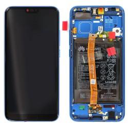 Bloc écran Bleu COMPLET prémonté sur châssis + batterie pour Huawei Honor 10 photo 1
