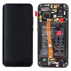 Bloc écran Noir COMPLET prémonté sur châssis + batterie pour Huawei Honor 10 photo 1