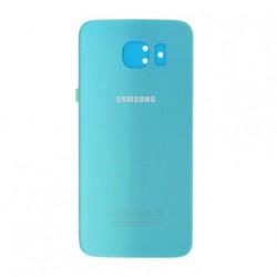 Vitre arrière Bleu pour Samsung Galaxy S6 Face