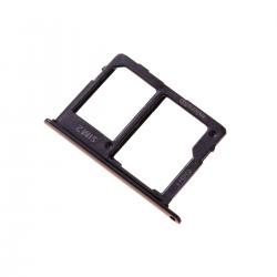 Rack tiroir pour cartes SIM et SD pour Samsung Galaxy A6 2018 et A6+ 2018 Noir Photo 1