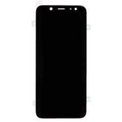 Bloc Ecran noir avec vitre + Amoled pour Samsung Galaxy A6 2018 Photo 1