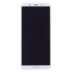 Bloc Ecran Blanc COMPLET prémonté sur chassis + batterie pour Huawei Mate 10 Lite Photo 2