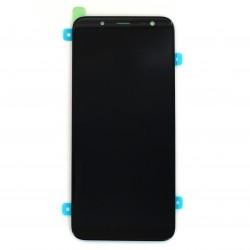 Ecran Super Amoled Noir et vitre prémontés pour Samsung Galaxy J6 Photo 1
