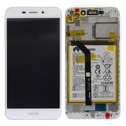 Bloc écran Blanc COMPLET prémonté sur chassis + batterie pour Huawei Honor 6C Pro Photo 1