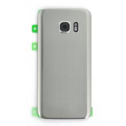 Vitre Arrière Argent compatible pour Samsung Galaxy S7 Photo 1