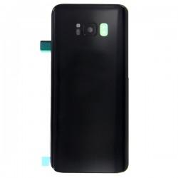 Vitre arrière compatible pour Samsung Galaxy S8 Noir Carbone Photo 1
