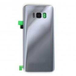 Vitre arrière compatible pour Samsung Galaxy S8 Argent Photo 1