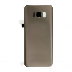 Vitre arrière compatible pour Samsung Galaxy S8 Or Photo 1