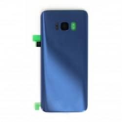 Vitre arrière compatible pour Samsung Galaxy S8 Bleu  Photo 1