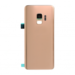 Vitre arrière compatible pour Samsung Galaxy S9 Or Photo 1