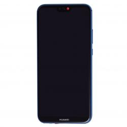 Bloc Ecran Bleu COMPLET prémonté sur chassis + batterie pour Huawei P20 Lite Photo 2