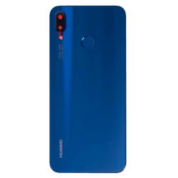 Vitre arrière Bleu d'origine avec lecteur d'empreintes pour Huawei P20 Lite Photo 1