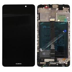 Bloc Ecran Noir COMPLET prémonté sur chassis + batterie pour Huawei Mate 9 Photo 1