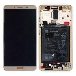 Bloc Ecran Brun Moca COMPLET prémonté sur chassis + batterie pour Huawei Mate 10 Photo 1