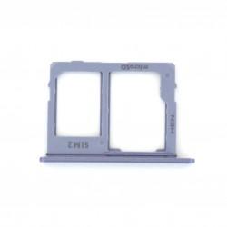 Rack tiroir carte mémoire Micro SD et Sim 2 pour Samsung Galaxy J6 Bleu Lavande Photo 1