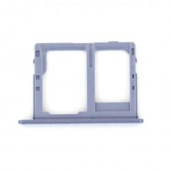 Rack tiroir carte mémoire Micro SD et Sim 2 pour Samsung Galaxy J6 Bleu Lavande Photo 2
