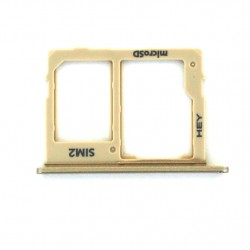 Rack tiroir carte mémoire Micro SD et Sim 2 pour Samsung Galaxy J6 Dual Or Photo 1
