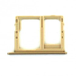 Rack tiroir carte mémoire Micro SD et Sim 2 pour Samsung Galaxy J6 Dual Or Photo 2