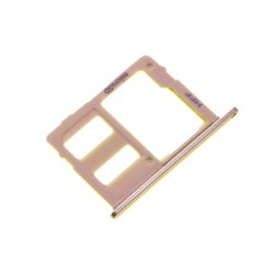 Rack tiroir carte mémoire Micro SD pour Samsung Galaxy J6 Or Photo 1