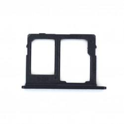 Rack tiroir carte mémoire Micro SD et Sim 2 pour Samsung Galaxy J6 Dual Noir Photo 1