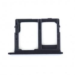 Rack tiroir carte mémoire Micro SD et Sim 2 pour Samsung Galaxy J6 Dual Noir Photo 2