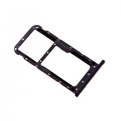 Rack tiroir cartes SIM et SD Noir pour Huawei P20 Lite photo 1