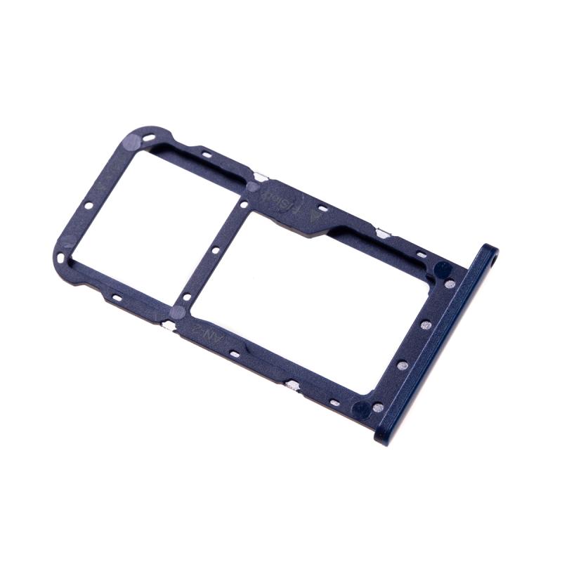 carte sim huawei p20 lite Rack tiroir cartes SIM et SD Bleu pour Huawei P20 Lite à remplacer