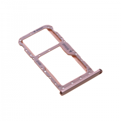 Rack tiroir cartes SIM et SD Rose pour Huawei P20 Lite Photo 1
