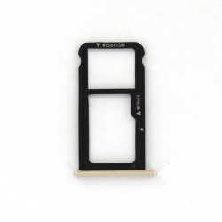 Rack tiroir carte SIM et SD Or pour Huawei Honor 6C Photo 2