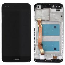 Bloc Ecran Noir COMPLET prémonté sur chassis pour Huawei Y6 Pro 2017 Photo 1