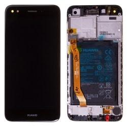 Bloc écran Noir COMPLET prémonté sur chassis + batterie pour Huawei Y6 Pro 2017 Photo 1