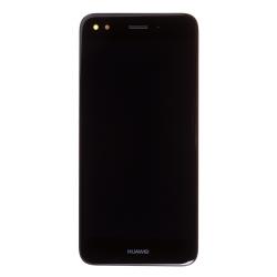 Bloc écran Noir COMPLET prémonté sur chassis + batterie pour Huawei Y6 Pro 2017 Photo 2