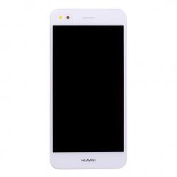 Bloc écran Blanc COMPLET prémonté sur chassis + batterie pour Huawei Y6 Pro 2017 Photo 2