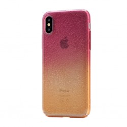 Coque de protection Devia orange et rouge pour iPhone X et XS photo 1